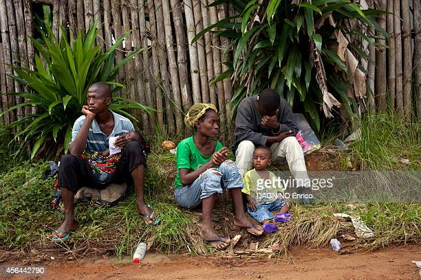 haemorrhagicepidemic of fever caused by the Ebola virus patients waiting at the entrance of the Island Clinic new treatment center in the suburb of...