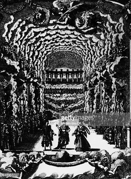 Haendel, Georg Friedrich *23.02.1685-14.04.1759+Komponist, D- Darstellung einer Auffuehrung einerHaendel-Oper- undatiert