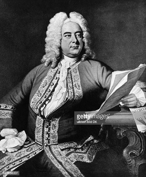 Haendel, Georg Friedrich *23.02.1685-14.04.1759+Komponist, D- Gemaelde von Thomas Hudson- undatiert
