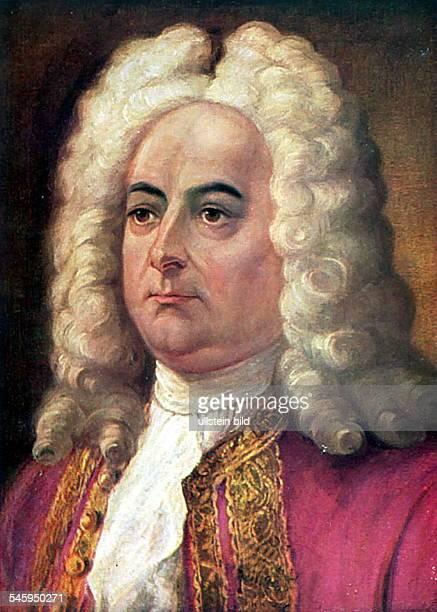 Haendel, Georg Friedrich *23.02.1685-14.04.1759+Komponist, D- Portrait nach einem Gemaelde- undatiert
