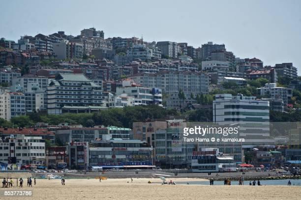 Haeundae Beach in Busan in South Korea