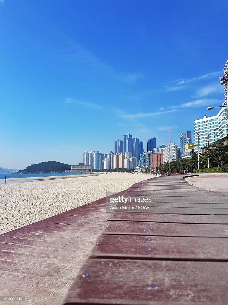 Haeundae beach, Korea : Stock Photo
