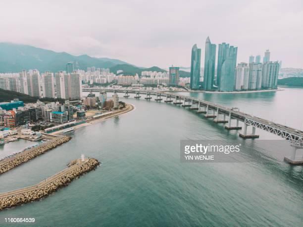 haeundae, busan - busan stock pictures, royalty-free photos & images