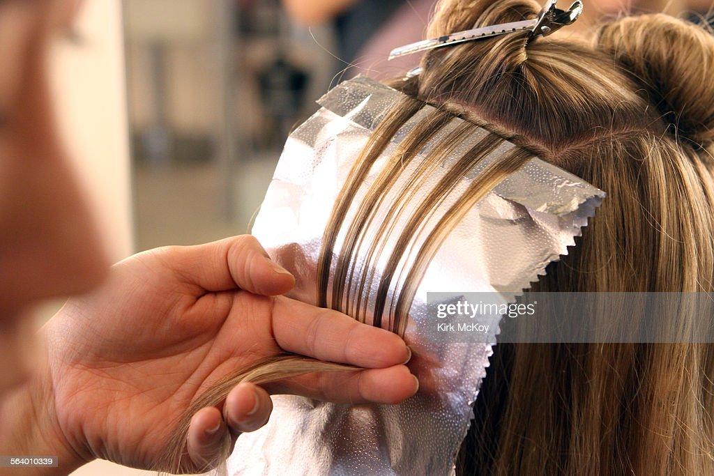 Haeyeon Cho Applies A Highlightings To Joanna Batemans Hair At