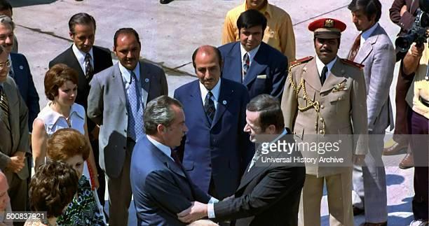 Hafez alAssad President of Syria 1971 – 2000 Greets President Nixon of the USA at Damascus in 1974