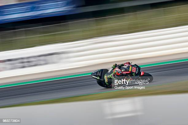 Hafizh Syahrin of Malaysia and Monster Yamaha Tech 3 rides during free practice for the MotoGP of Catalunya at Circuit de Catalunya on at Circuit de...