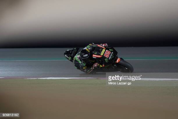 Hafizh Syahrin of Malaysia and Monster Yamaha Tech 3 rounds the bend during the Moto GP Testing Qatar at Losail Circuit on March 3 2018 in Doha Qatar
