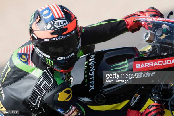 Hafizh Syahrin of Malaysia and Monster Yamaha Tech 3 rounds the bend during the MotoGp of Spain Free Practice at Circuito de Jerez on May 4 2018 in...