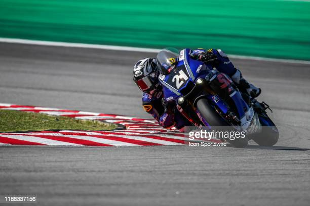 Hafizh Syahrin of Yamaha Sepang Racing in action during qualifying session of the FIM EWC - The Sepang 8 hours Endurance Race on December 12 held at...