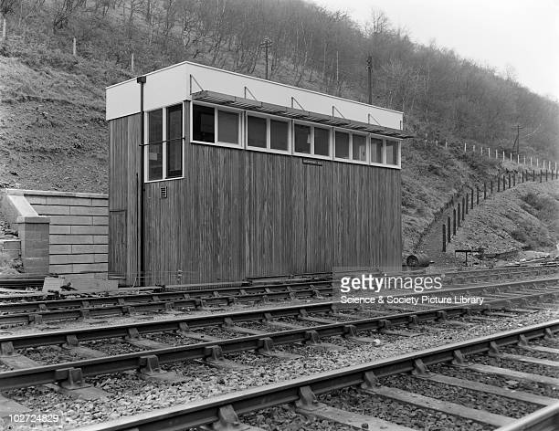 Hafodyrynys East signal box exterior 1959 Timber signal box exterior Hafodyrynys East 9th December 1959