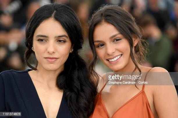 Hafsia Herzi and Meleinda Elasfour attend the photocall for Mektoub My Love Intermezzo during the 72nd annual Cannes Film Festival on May 24 2019 in...