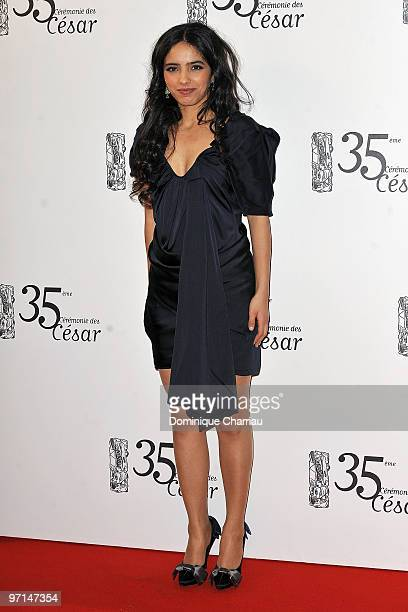 Hafsia Herzi attends the 35th Cesar Film Awards at Theatre du Chatelet on February 27 2010 in Paris France