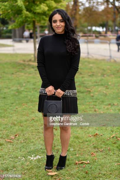Hafsia Herzi attends the Elie Saab Womenswear Spring/Summer 2020 show as part of Paris Fashion Week on September 28 2019 in Paris France