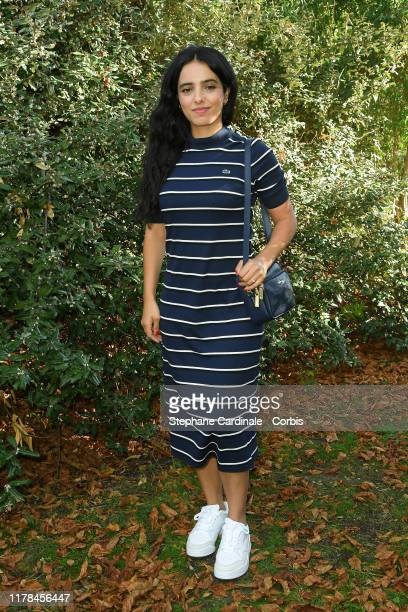 Hafsia Herzi attends the Lacoste Womenswear Spring/Summer 2020 show as part of Paris Fashion Week on October 01 2019 in Paris France
