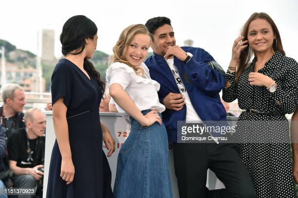 Hafsia Herzi Marie Bernard Shain Boumedine and Lou Luttiau attend thephotocall for Mektoub My Love Intermezzo during the 72nd annual Cannes Film...