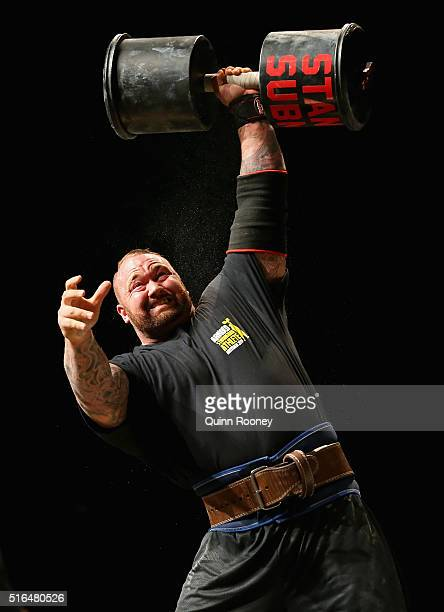 Hafthor Julius Bjornsson of Iceland competes in the Arnold Classic Professional Strongman competition during the 2016 Arnold Classic on March 19 2016...