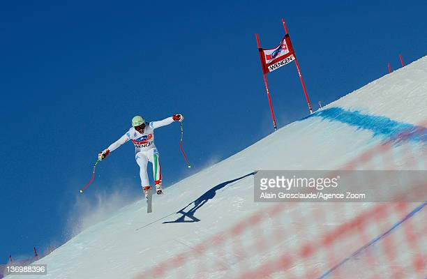 Hagen Patscheider of Italy during the Audi FIS Alpine Ski World Cup Men's Downhill on January 14 2012 in Wengen Switzerland