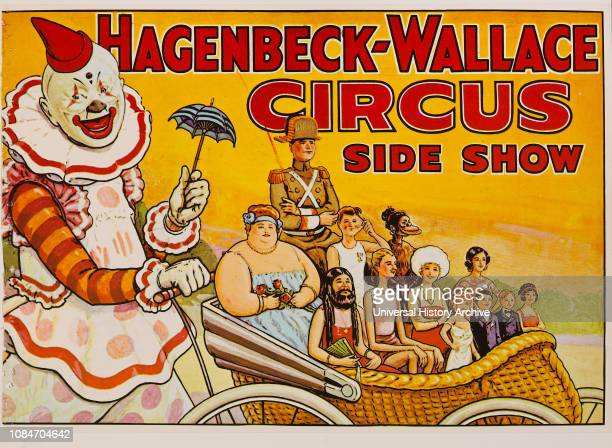 HagenbeckWallace Circus Side Show Circus Poster Lithograph 1930s