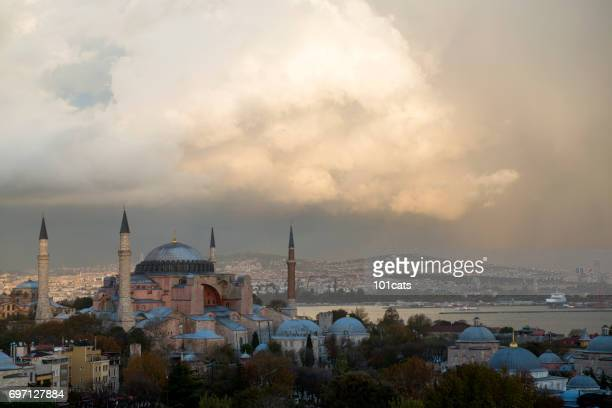 hagia sofia ayasofya in istanbul - turkey - byzantine stock photos and pictures