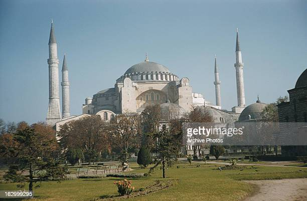 Hagia Sophia a former mosque now a museum in Istanbul Turkey circa 1965