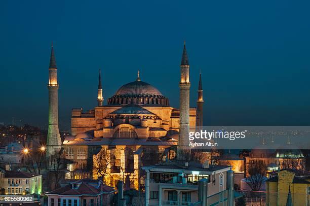 Hagia Sophia at blue hour ,Istanbul,Turkey