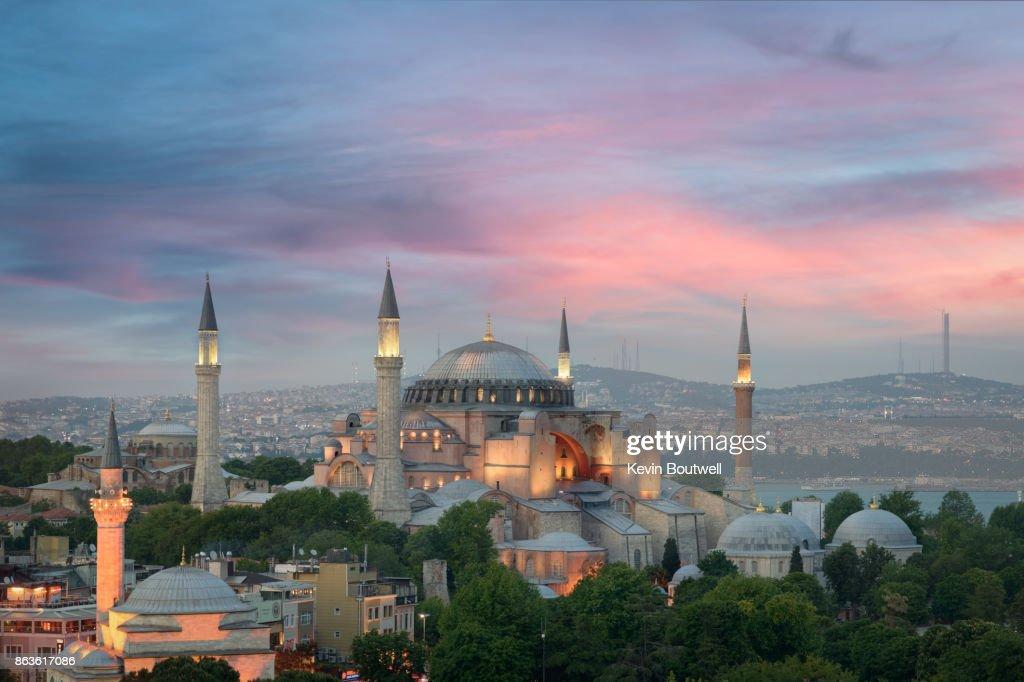 Hagia Sophia at Dusk in Istanbul : Foto de stock