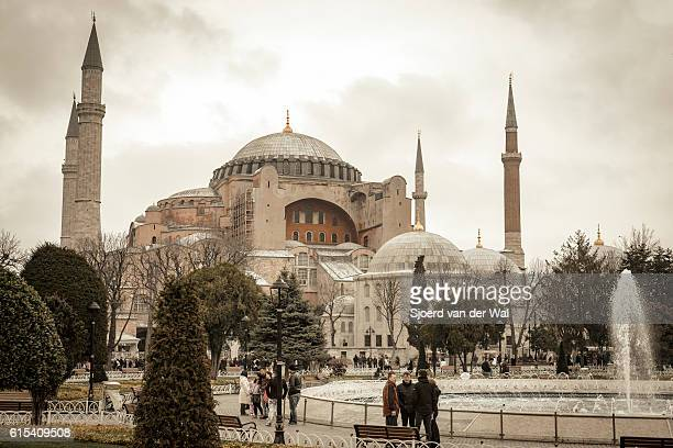 "hagia sophia former greek orthodox patriarchal basilica and former mosque - ""sjoerd van der wal"" stock pictures, royalty-free photos & images"
