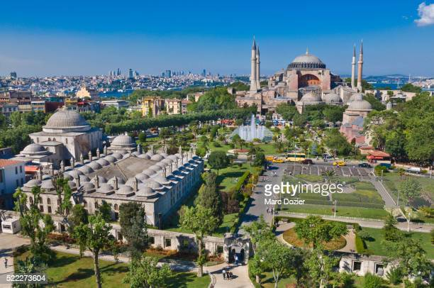 hagia sophia (aya sofya) in istanbul - hagia sophia stock pictures, royalty-free photos & images