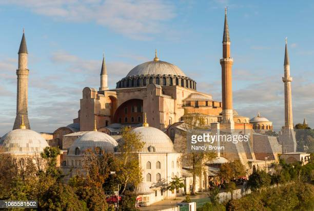 hagia sophia in istanbul turkey. - byzantine stock pictures, royalty-free photos & images