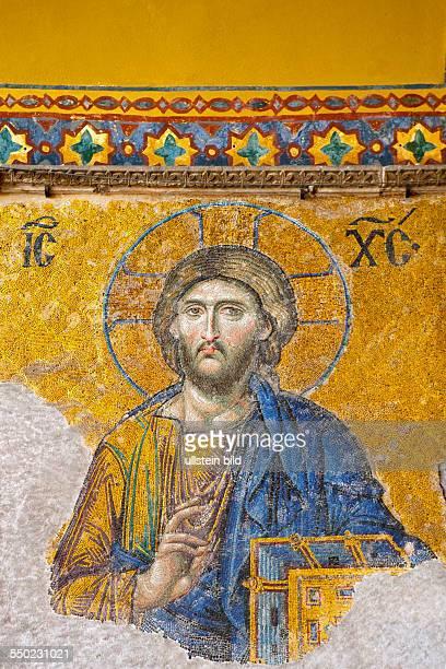 Hagia Sophia Mosaik Christus Pantokrator TUERKEI Istanbul 062011
