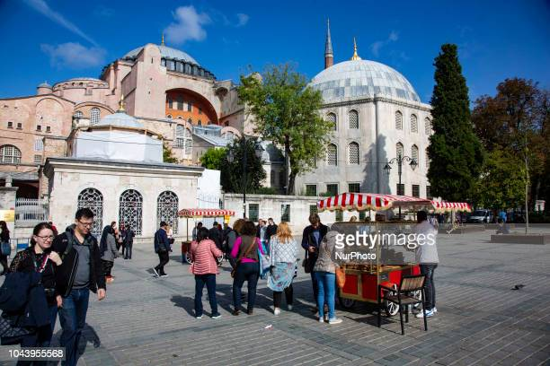 Hagia Sophia or in Latin Sancta Sophia or Sancta Sapientia and in Turkish Ayasofya is a Greek Orthodox Christian Cathedral built by the emperor of...