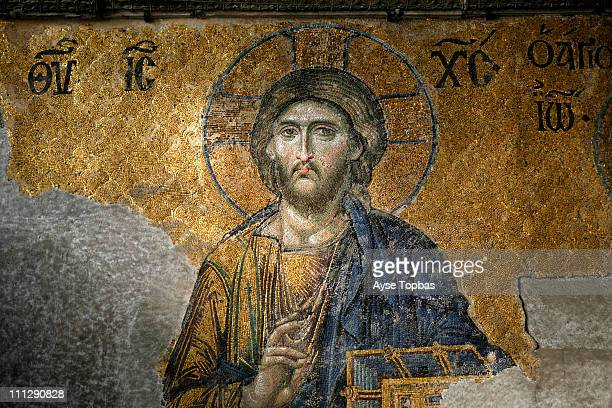 hagia sophia - jesus christ stock pictures, royalty-free photos & images