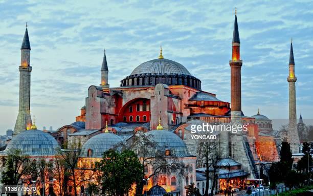 hagia sophia - hagia sophia istanbul stock pictures, royalty-free photos & images