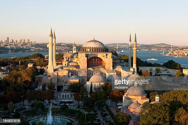 hagia sophia - byzantine stock photos and pictures