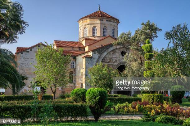 hagia sophia, trabzon, black sea region, turkey - trabzon stock photos and pictures