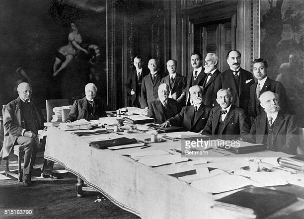 Hague, Netherlands: Picture shows a portrait of the World Court at Hague. Undated photo circa 1940s.