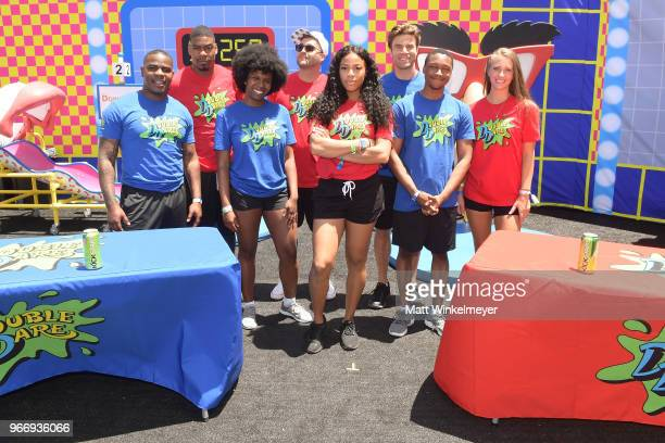 Haha Davis Leroy Garrett Rachel Pegram Chris 'CT' Tamburello Kam Williams Matthew Broussard Josh Johnson and Jenna Compono attend Double Dare...