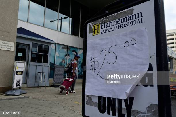 Hahnemann University Hospital in Philadelphia PA on July 10 2019 The struggling Center City located hospital owned by American Academic Health System...