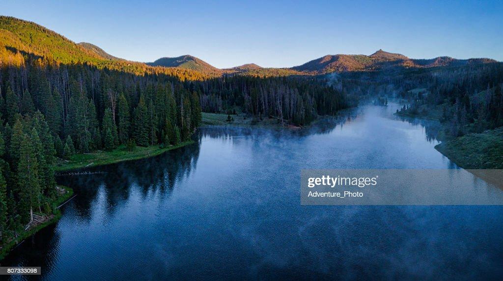 Hahns Peak ake Scenic Landscape Summer : Stock Photo