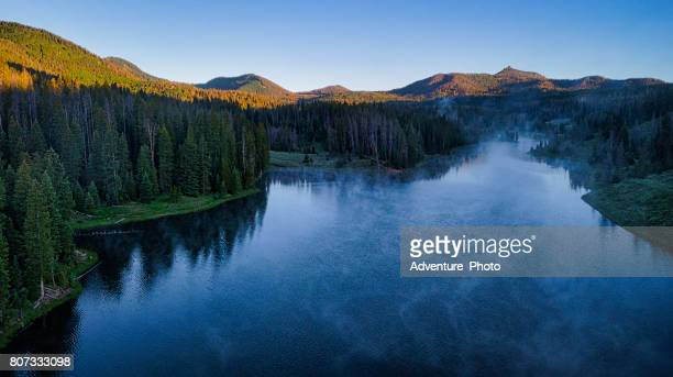 hahns peak ake scenic landscape summer - steamboat springs colorado stock photos and pictures
