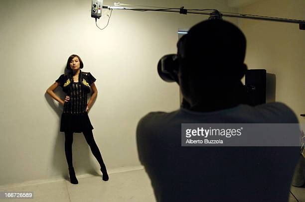 Hai Dong studio during the photo shoot of Hoang Yen one of Vietnam's best known fashion models At 18 years old and 175 cm tall Hoang Yen is one of...