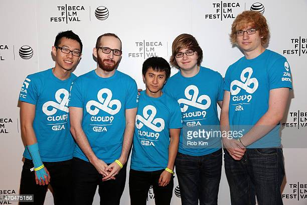 Hai Lam Daerek Hart An Le Zachary Scuderi and Will Hartman attend the premiere of All Work All Play during the 2015 Tribeca Film Festival at Spring...