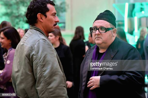 Haider Ackermann and Alber Elbaz attend the Fashion Tech Lab Launch Event Hosted By Miroslova Duma And Stella McCartney as part of Paris Fashion Week...