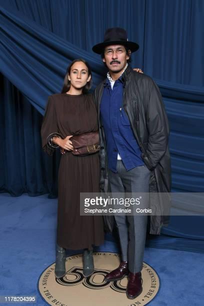 Haider Ackermann and Delfina Delettrez Fendi attend the #BoF500 gala during Paris Fashion Week Spring/Summer 2020 at Hotel de Ville on September 30...