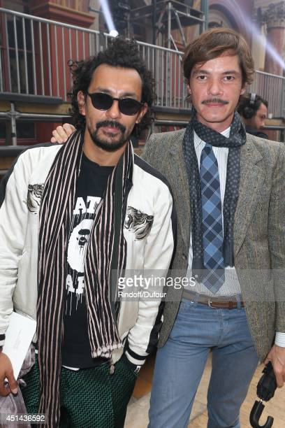 Haider Ackermann and Elie Top attend the Lanvin show as part of the Paris Fashion Week Menswear Spring/Summer 2015 on June 29 2014 in Paris France