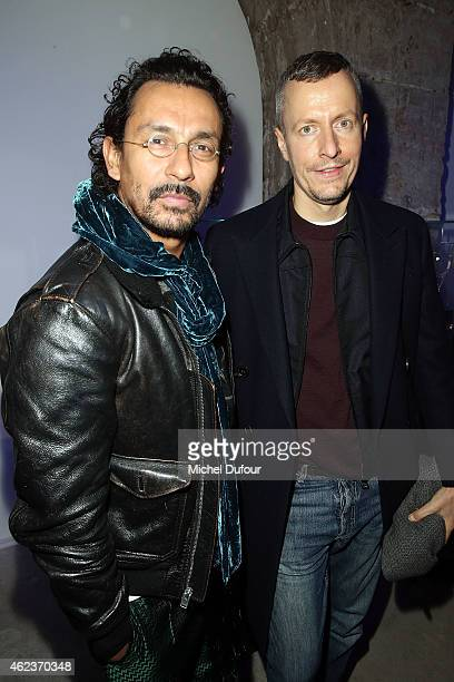 Haider Ackermann and guest attend the Launch Elie Top 'Haute Joaillerie Fantaisie' Collection on January 27 2015 in Paris France