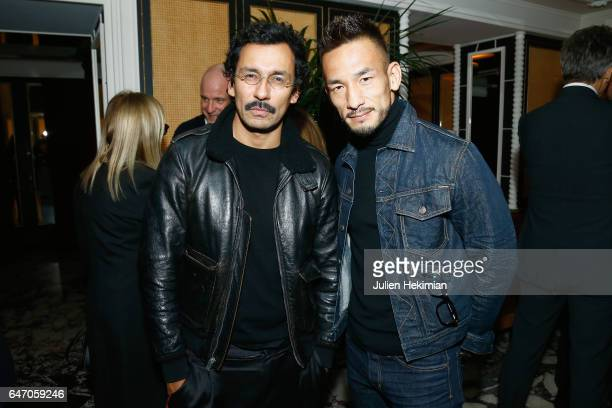 Haider Ackermann and Hidetoshi Nakata attend the Mastermind Magazine launch dinner as part of Paris Fashion Week Womenswear Fall/Winter 2017/2018 at...
