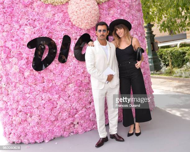 Haider Ackermann and Lou Doillon attend the Dior Homme Menswear Spring/Summer 2019 show as part of Paris Fashion Week on June 23 2018 in Paris France