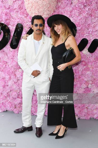 Haider Ackermann and Lou Doillon attend the Dior Homme Menswear Spring/Summer 2019 show as part of Paris Fashion Week Week on June 23 2018 in Paris...