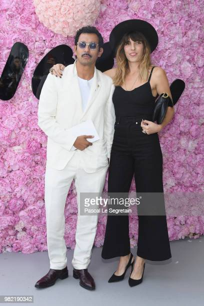 Haider Ackermann and Lou Doillon attends the Dior Homme Menswear Spring/Summer 2019 show as part of Paris Fashion Week on June 23 2018 in Paris France